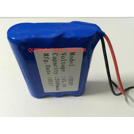 3S1P 2600mah 3000mah 3200mah 3400mah 3500mah 11.1V 18650 for SANYO panasonic lg 18650 battery pack