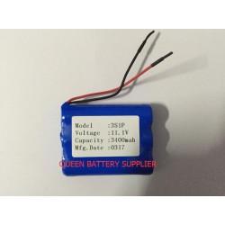 3S1P 11.1V 2600mah 3000mah 3400mah NCR18650B 3500mah 18650 for SANYO panasonic lg 18650 battery pack