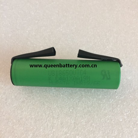 SONY 18650 C4 US18650VTC4 2100mAh With tabs (U) with pure nickel strip 0.2x8mm