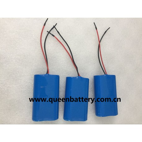 18650 2S1P 7.2V 7.4V PANASONIC BD NCR18650BD LG 18650 MH1 INR18650MH1 BATTERY PACK WITH PCM PCB 3A-6A with 22AWG SILICONE WIRES