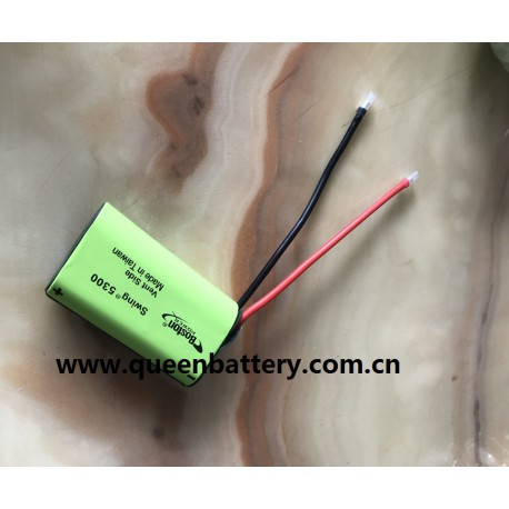 1S1P BOSTON POWER 5300MAH SWING 3.6V 3.7V with 16AWG silicon wires