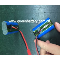 QB14500 1S2P 3.7V 14500 AA 1400mAh battery pack with PCB/PCM 3A con.