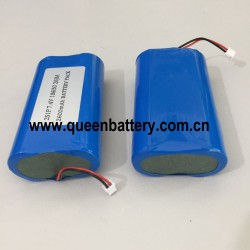 7.4v 7.2v 2s1p  samsung 18650 26jm QB18650 2600mah with pcb 3A with molex connector with 26awg silicon cable