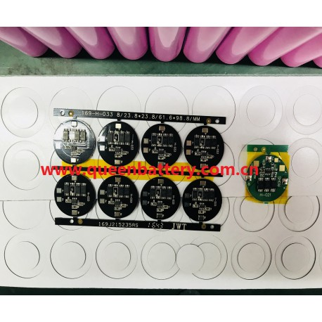 1S 3.7V 4.2V PCB 8A con. 3 mos  for 21700 battery cell