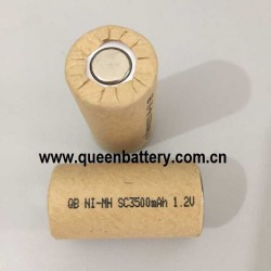 QB NI-MH sc SC3500mAh 1.2V battery cell 3500mah