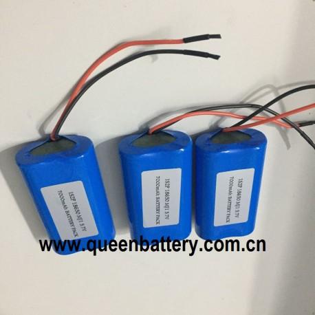 1S2P 3.6V 3.7V 18650 LG MJ1 INR18650MJ1 battery pack 3500mah with PCB 3 mos 5A con.