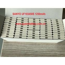 SANYO 653450 UF653450S 1250mAh 3.7V prismatic battery cell