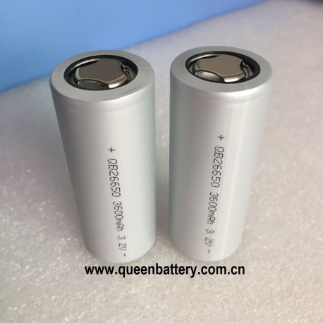 QB26650 LIFEPO4 3.2V 3600mAh 3.2V battery cell