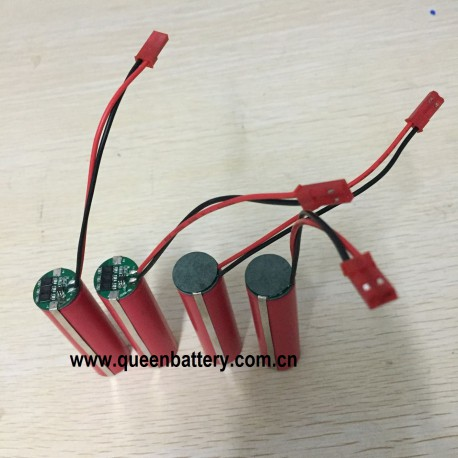 18650 1s1p 3.6v 3.7v 3500mAh lamp battery sanyo ncr18650ga 1850GA GA with triple mos PCB with JST conntor