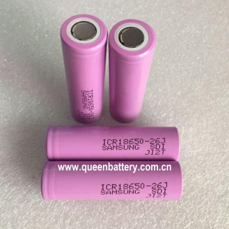 Samsung 26JM 18650 ICR18650-26JM 2600mAh  li-ion rechargeable battery cell 3.7V