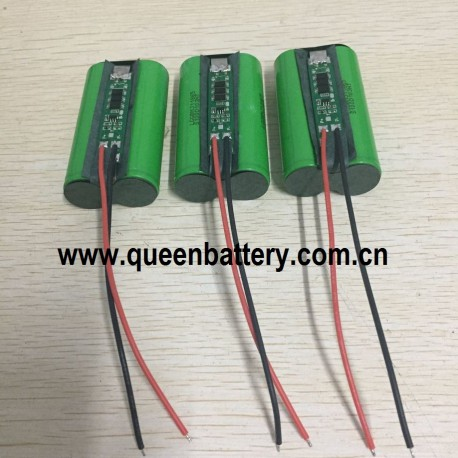 18650 LG MJ1INR18650MJ1 1S2P 3.7V 3.6V 7AH 7000mAh lamp rechargeable battery with PCB/PCM 5A(con.) 3mos with 22awg