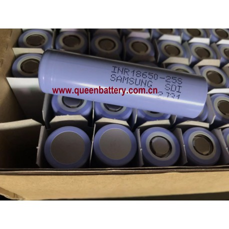 SAMSUNG 18650 25S INR18650-25S 2500mAh 25A battery cell 3.6V