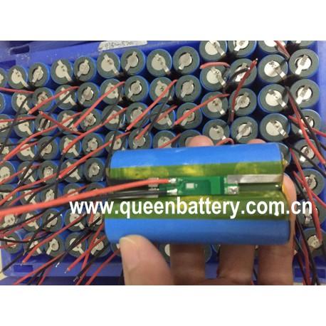 21700 lighing 7.4v 7.2v li-ion battery pack 2s1p 5000mAh samsung 50E INR21700-50E with pcb 3A 2MOS