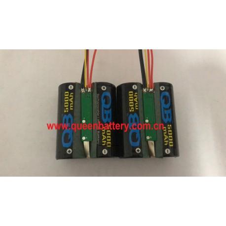 QB26650 QB 26650 li-ion battery pack 2s1p 7.4V 5000mah with PCM 6A with NTC