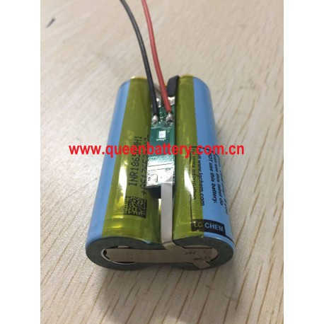 robot battery pack sweeper lamp lighting loud speaker microphone battery 2s1p 7.2v 7.4v 3200mAh18650 mh118650MH1with 2mos PCM 3A