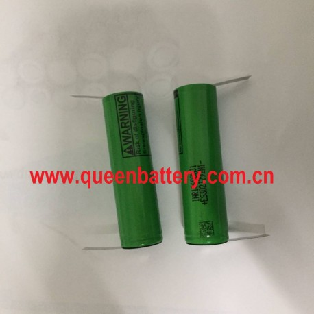 18650 1S1P LG INR18650MJ1 MJ1 3500mah 3.7V 3.6V with U tabs(0.15x5mm)w/tabs