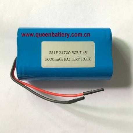 illumination lamps lighting LED 7.4v 7.2v 8.4v 21700 2s1p 5000mah samsung 50E LG M50T INR21700-50E INR21700M50T battery pack