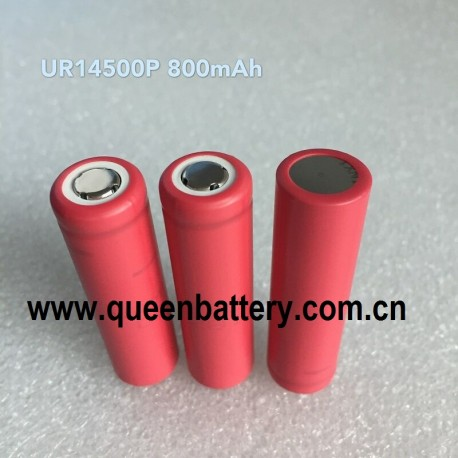 SANYO 14500 UR14500P 800mAh  battery cell 3.7V