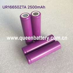 SANYO 16650  UR16650ZTA 2500mAh battery cell 3.7V