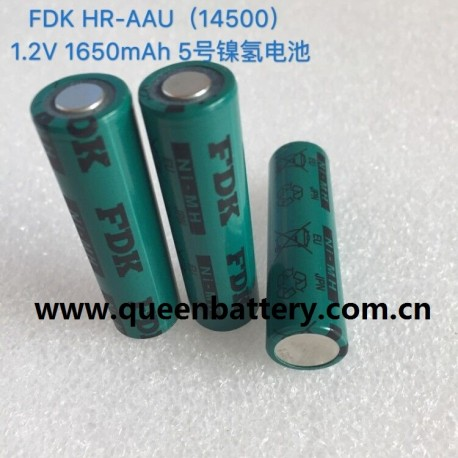 SANYO 14500 FDK 1650mah HR-AAU NiMH 1.2V battery cell