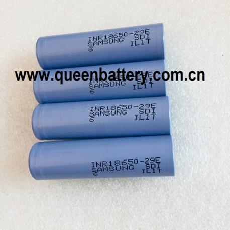 Samsung 29E 18650 sdi 18650 2900mAh INR18650-29E 3.7V Battery cell 10A