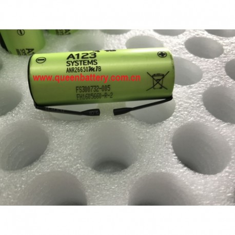 A123 26650 LIFEPO4 ANR26650M1B 3.3v 2500mah 30C high rate rechargeable battery cell 70A with tabs