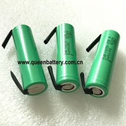 Samsung 25R 25RM 18650 INR18650-25R 20A 2500mAh li-ion rechargeable battery cell 3.7V with tabs