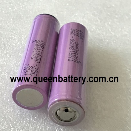 Samsung 18650 35E 35ET INR18650-35E 3.6V 3500mah with button top(BT) no protection(pcb)