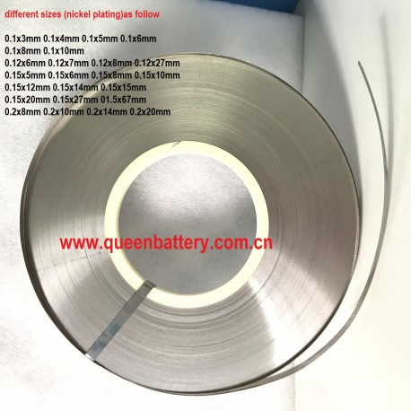 18650 21700 26650 26800 32650 battery nickel strip (nickel plating) 0.1mm 0.12mm 0.15mm  0.2mm 0.3mm