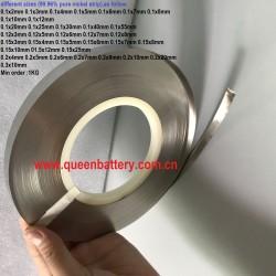 18650 21700 26650 26800 32650 battery nickel strip (99.96% pure nickel strip) 0.1mm 0.12mm 0.15mm 0.2mm 0.3mm