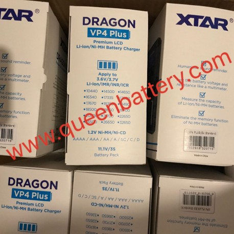 XTAR DRAGON VP4 PLUS Smart Battery Charger Set Pouch Probe Adapter Car Charger Fast Charging Cargador 18650 Battery
