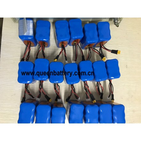 RC helicopter drone model aircraft battery 11.1v 10.8v 12.4v 3s2p sanyo 18650 GA NCR18650GA 7000mAh 7AH with 18awg XT30 with JST