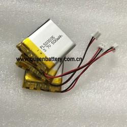 1S1P LI-PO PL5033035 MP3 GPS navigator DVD recorder bluetooth speaker gps battery 500mah 3.7v