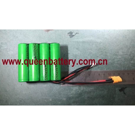 18650 LG MJ1 SAMSUNG 35ET SANYO GA BATTERY PACK  14.4V 14.8V 4S2P 7000mAh with XT60 with jst-xh connector