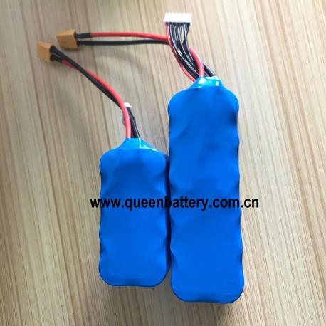 21.6V 6S2P LG 21700 INR2170M50 M50T 22.2V10AH with 14AWG 15cm silicon wires XT60 with JST-XH balancer wire