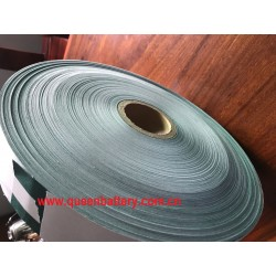 65mm 70mm width insulation paper fish paper barley paper  with glue attached for 18650 26650 32650 21700 26800 battery pack