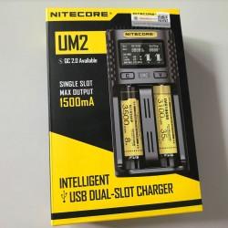 NITECORE UM2 Automatic Universal 3A Quick Charger Intelligent USB 2Slot Charger