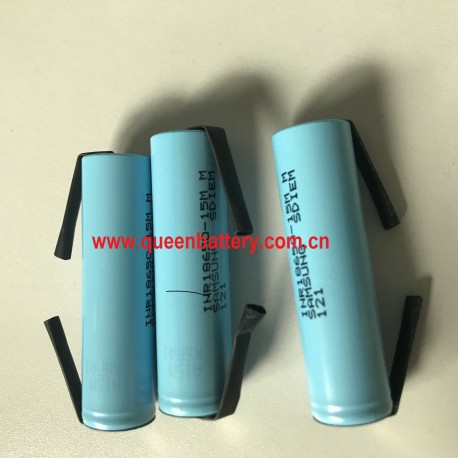 18650 3.6V 3.7V 4.2V samsung 18650 15M 15MM 1500mAh INR18650-15MM rechargeable battery with U tabs