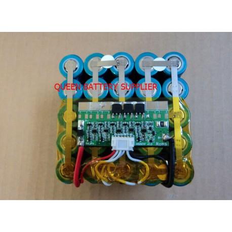 18.5V 5S5P 13Ah 15Ah 17Ah 18650 for panasonic lg 18650 battery pack