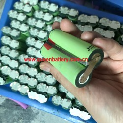 18650 rechargeable battery pack panasonic NCR18650B 18650B 2S1P 7.2V 7.4V 3400mAh with PCB 5A for digital camera product