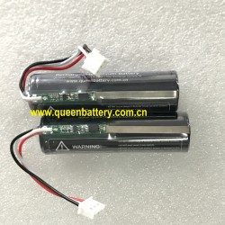 QB18650 1S1P QB 18650 battery pack with PCB  3.7v 2600mah with connctor (JST XHP-3) JST SXH-001T-P0.6 with 7cm 22AWG