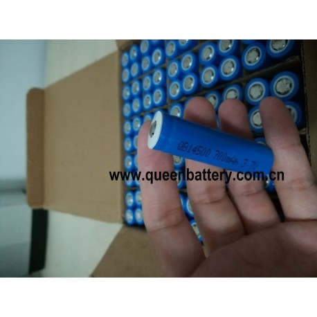 QB14500 AA 14500 3.7V 700mAh battery cell with button top(BT)