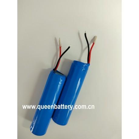 QB18650 2600mah 3000mah 3350mah 3.7V 4.2V led light battery  lamp battery 1S1P w/pcb/pcm protection protected