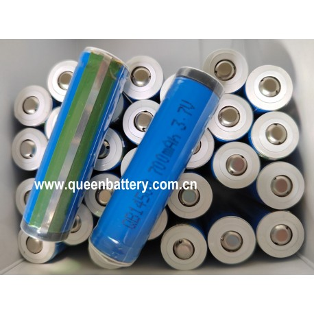 QB14500 AA 14500 3.7V 700mAh battery cell with button top(BT) with protected (PCB)