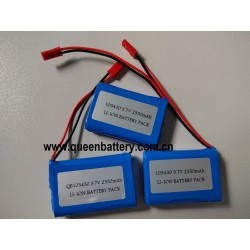 103450 prismatic QB103450 1800mAh NCA103450 PANASONIC 103450A 1S1P 3.6V 3.7V 4.2V 2350mAh battery pack with PCB/PCM with JST