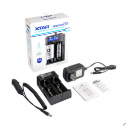XTAR SV2 0.25A-2A Universal USB Ni-MH Li-ion Battery Charger with LCD Display 18650/16340/14500/22650/32650