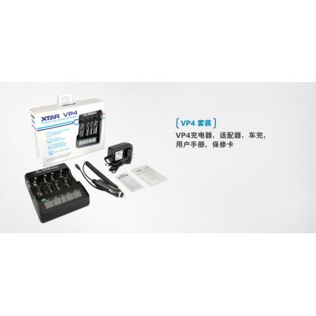 Xtar VP4 Smart Intelligent LCD Battery Charger 4 Slot Universal for 10440 18350 26650 li-ion ni-mh