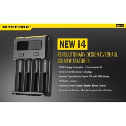 Nitecore New I4 Digicharger Battery Charger Nitecore Charger for 26650 18650 18350 16340 14500 10440