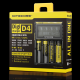Nitecore D4 Digicharger LCD Intelligent Circuitry Global Insurance Li-ion 18650 14500 16340 26650 Battery Charger