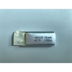 431635 rechargeable  li-po battery cell 200mAh 3.7V
